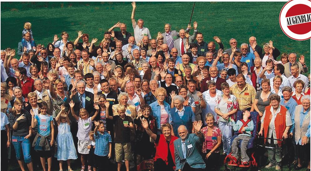 souvenir picture from the first Broderius-reunion, where 136 members of the family-clan arrived from overseas, all parts of Germany and the adjacent european countries